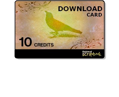 Universal scrapbook cards - 10 Credits