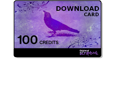 Universal scrapbook card - 100 Credits