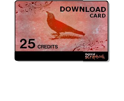 Universal scrapbook card - 25 Credits