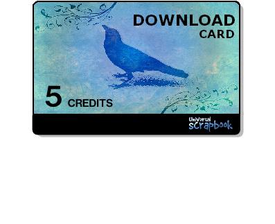 Universal scrapbook card - 5 Credits
