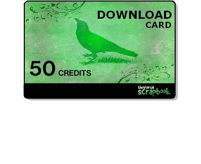 Universal scrapbook card - 50 Credits